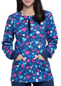 With All My Heart Print Jacket