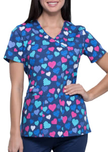 With All My Heart V-Neck Print Top