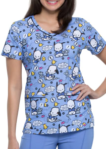 Hello Kitty Jog To The Rhythm V-Neck Print Top