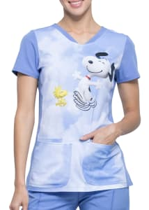 Snoopy Kiss The Sky Print Top