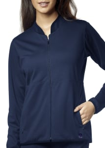 WonderWink Aero Ponte Knit Zip Front Warm Up Scrub Jacket