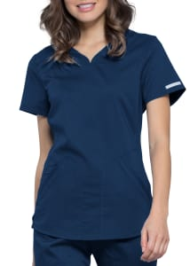 Cherokee Workwear Revolution Y-Neck Scrub Top