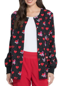 Be-Cause Of You Breast Cancer Awareness Print Jacket