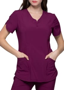 HeartSoul Love Always Graceful V-Neck Scrub Top