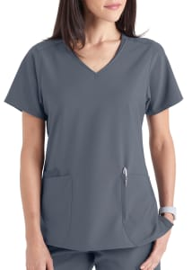 Beyond Scrubs Active+ Christie 3 Pocket V-Neck Scrub Top