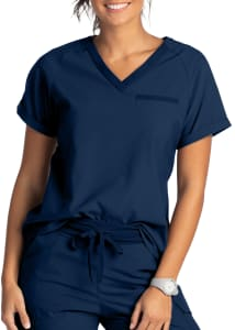 Beyond Scrubs Active+ Olivia V-Neck Scrub Top
