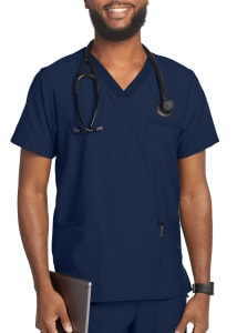 Beyond Scrubs Active+ Men's Multi Pocket V-Neck Scrub Top