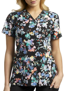 Botanic Mirage V-Neck Print Top