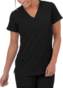 V-Neck Zip Pocket Top