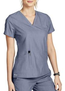 Grey's Anatomy Signature Astra Lace Sleeve Hi-Lo Hem Scrub Top