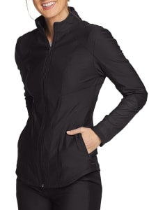 Form by Cherokee Mesh Insert Zip Front Scrub Jacket