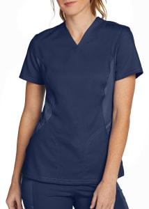 Urbane Ultimate Curved V-Neck Scrub Top with Align Technology