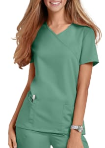 Urbane Ultimate Sophie Mock Wrap Scrub Top