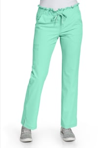 Peaches By Med Couture Ruffle Waist Cargo Scrub Pants