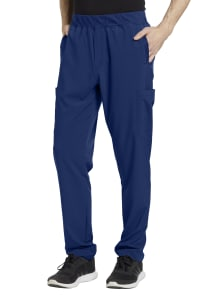 White Cross Fit Men's Elastic Waistband Scrub Pants
