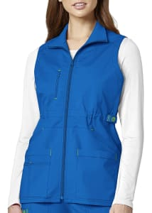 WonderFlex Utility Zip Front Scrub Vest