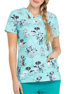 I've Goat This V-Neck Print Top
