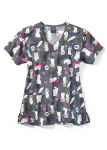 Cats Meow V-Neck Print Top