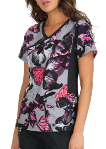 Orchid Bloom Crossover Print Top