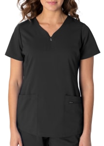 Jeni 2 Pocket Zip Front Top
