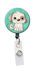 Initial This Animal Retractable Badge Holders