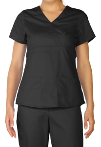 Antimicrobial Mock Wrap Top