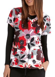 Autumn Floral V-Neck Top