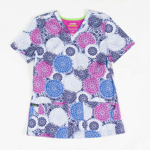 Dancing Lace Navy Print Top