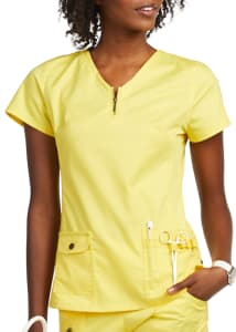 Beyond Scrubs Mia Zipper Neckline Scrub Top