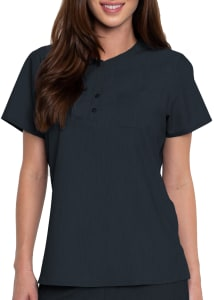 Med Couture Touch 1 Pocket Henley Scrub Top