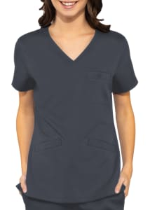 Med Couture Touch Classic 3 Pocket V-Neck Scrub Top