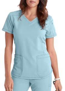 Dickies Dynamix 3 Pocket Curved Hemline Scrub Top