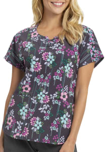 Midnight Garden Party Print Top