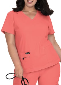 Becca V-Neck Top with Hidden Cell Phone Pocket