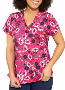Whimsical Floral V-Neck Print Top