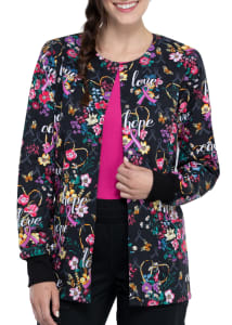 Bouquets of Hope Print Jacket