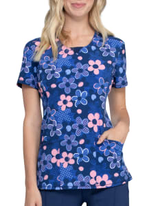 Infinity By Cherokee Actively In Bloom Print Scrub Top