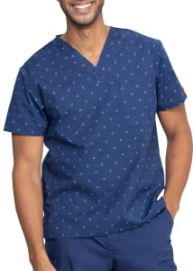 Dickies EDS Men's Lucky U V-Neck Print Scrub Top