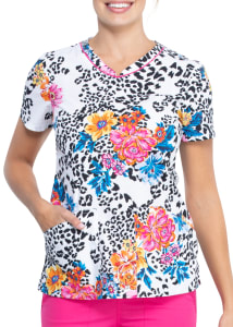 Leopard Bloom Print Top