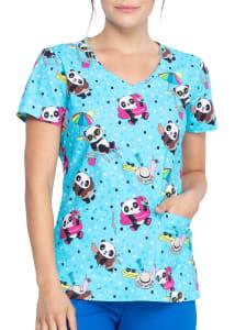 Hello Sunshine Panda V-Neck Print Top