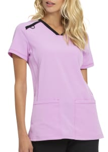 HeartSoul Limited Edition Contrast Piping Scrub Top