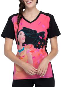 Pocahontas V-Neck Print Top