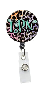 Initial This LPN Retractable Badge Holders