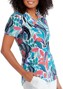 Palms V-Neck Print Top