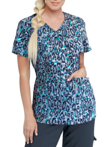 Safari Leopard V-Neck Print Top