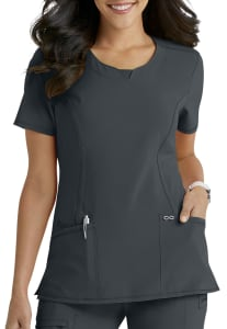 Infinity By Cherokee Round Neck Scrub Top With Certainty