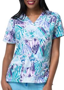 Carhartt Cross-Flex Spread Your Wings V-Neck Print Scrub Top