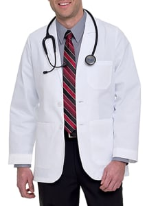 Two Button Blazer Style Lab Coat
