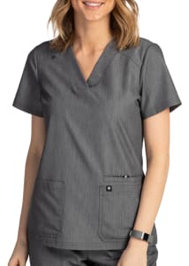 Beyond Scrubs Happiness Sunny 2 Pocket V-Neck Scrub Top