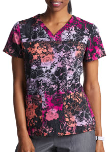 Ossie Floral Y-Neck Print Top